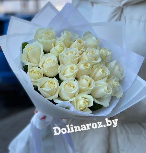 "Букет роз ""Светлый"" 21 роза"