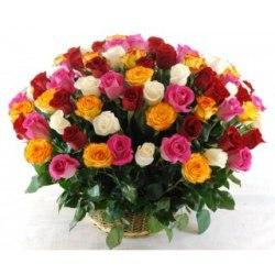 Корзина Микс 51 роза