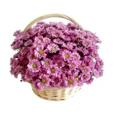 """Корзина с цветами """"Сиреневая нежность"""""""