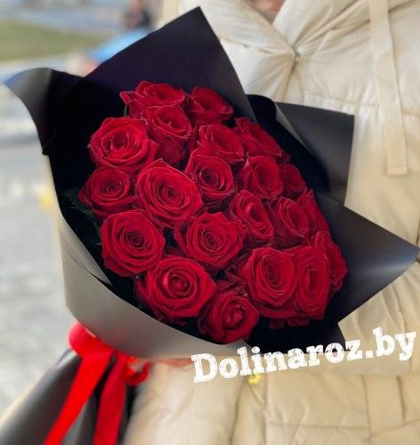 "Букет роз ""Черный Рыцарь"" 25 роз"