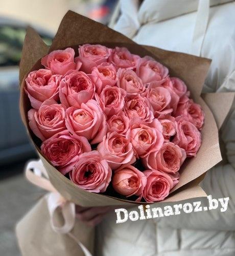 """Букет из роз """"Коралловый"""" 25 роз"""
