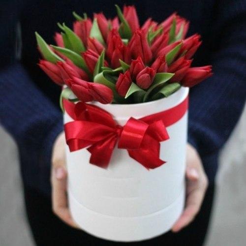 """Тюльпаны в коробке """"Комплимент"""""""