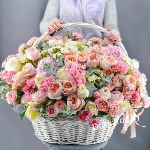 Корзина с цветами составная