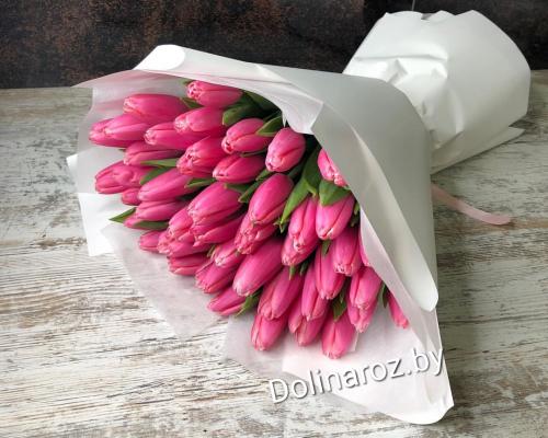 """Букет тюльпанов """"Розовые очки"""" 41 шт."""