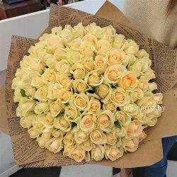 "Букет из роз ""Аваланш пич"" 101 роза"