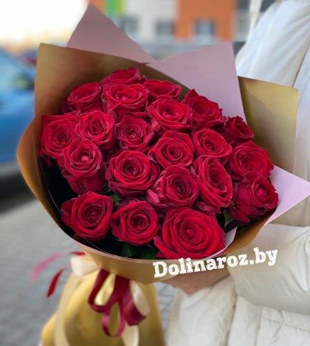 """Букет роз """"Золото"""" 21 роза"""