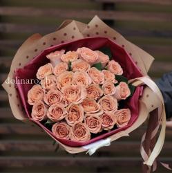 """Букет роз """"Капучино"""" 25 роз"""