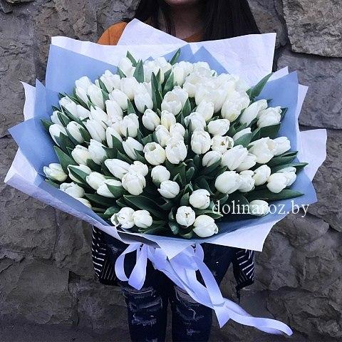 """Букет тюльпанов """"Белый зефир"""""""