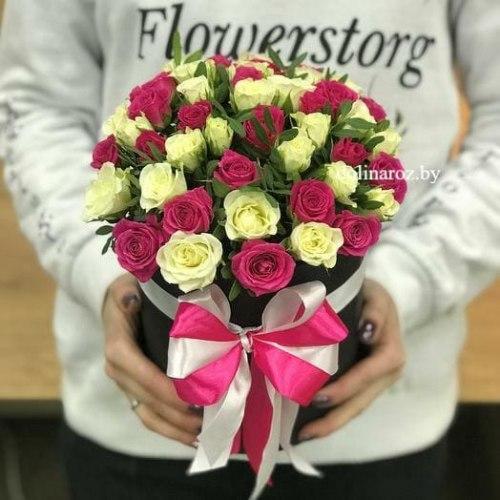 """Цветы в коробке """"Флирт"""""""