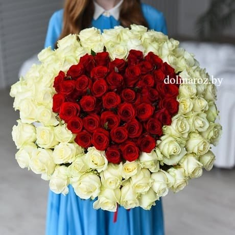 """Букет роз """"Любовь с акцентом"""" 101 роза"""