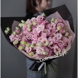 Букет из 31 ветки эустомы 11 роз
