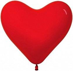 """Латексный шар с гелием """"Красное сердце"""" 12'' (30 см)"""