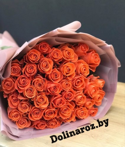 "Букет роз ""Мандаринка"" 41 роза"