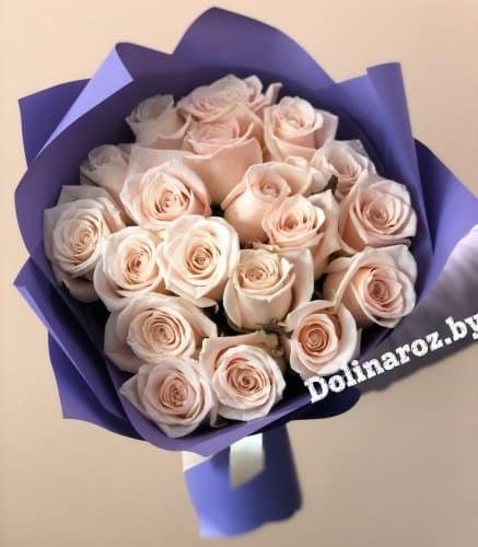 """Букет роз """"Сама нежность"""" 19 роз"""
