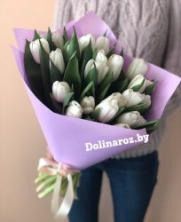 """Букет тюльпанов """"Беленький"""""""