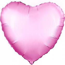 """Фольгированный шар """"Сердце, Розовый"""" 19"""" (48 см)"""