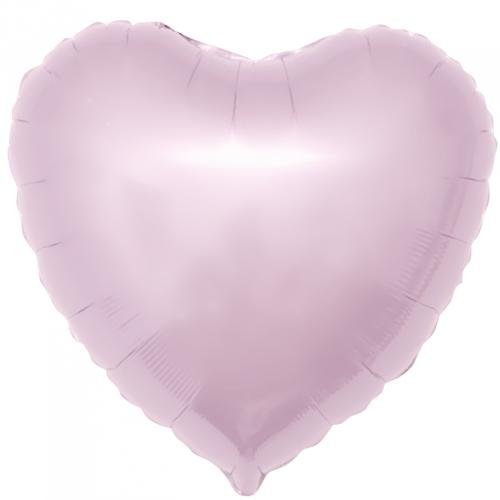 """Фольгированный шар """"Сердце, Светло-розовый"""" 19"""" (48 см)"""