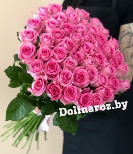 Букет роз «Розовое облако» 51 роза