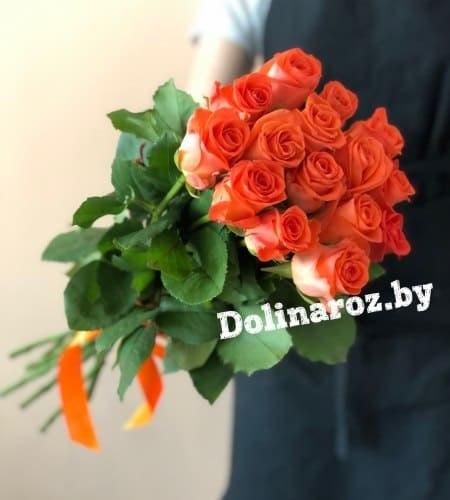 """Букет роз """"Оранж"""" 15 роз"""
