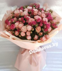 """Букет кустовых роз """"Коко"""""""