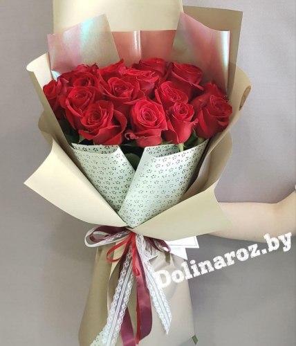 """Букет роз """"Сандра"""" 15 роз"""