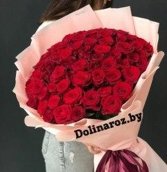 """Букет роз """"Красная нежность"""" 51 роза"""