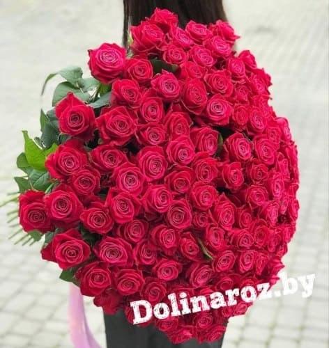 "Букет роз ""Малиновый рай"" 101 роза"