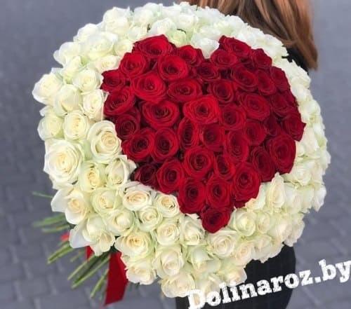 "Букет роз ""Амур"" 101 роза"
