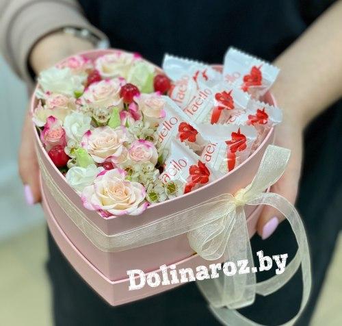 Цветы в коробке «Соблазн»