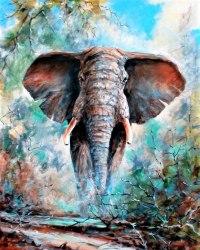 """Картина для раскрашивания по номерам """"Слон"""" (40*50)"""