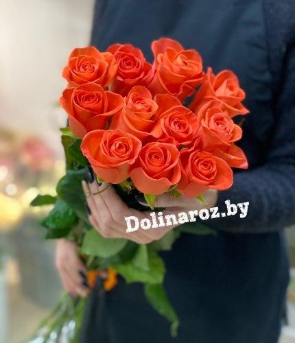 Букет роз «Оранжевое настроение» 11 роз