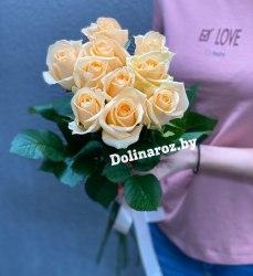 Букет роз «Крем Сода» 11 роз