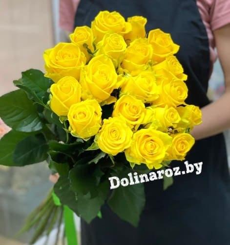 """Букет роз """"Солнечное утро"""" 19 роз"""