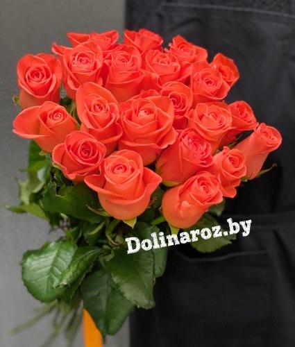 Букет роз «Яркий закат» 21 роза