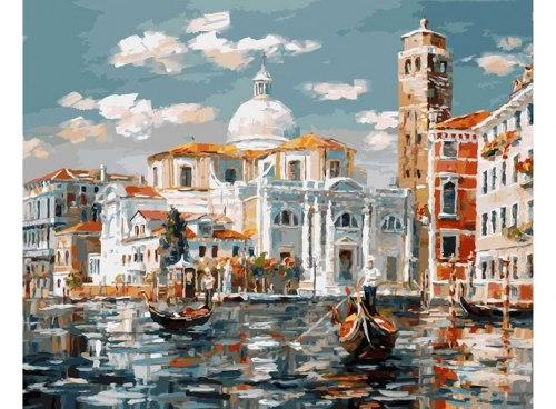 """Картина для раскрашивания по номерам """"Венеция. Церковь Сан-Джеремия"""" (40*50)"""
