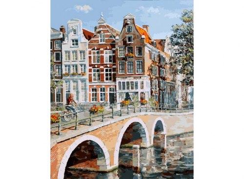 """Картина для раскрашивания по номерам """"Императорский канал в Амстердаме"""" (40*50)"""