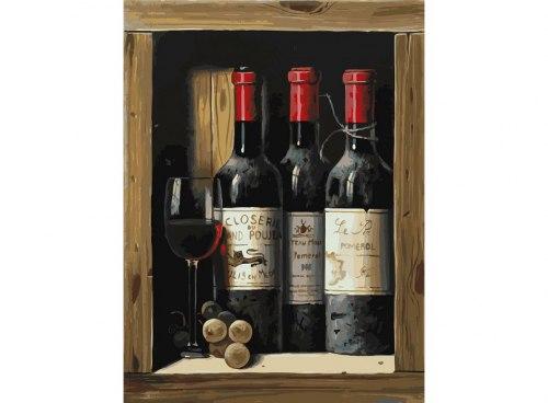 """Картина для раскрашивания по номерам """"Коллекционное вино"""" (30*40)"""