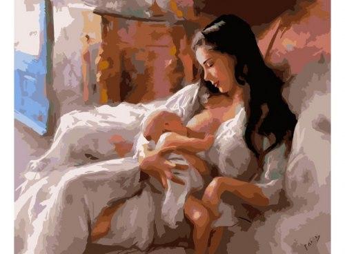 """Картина для раскрашивания по номерам """"Материнство"""" (40*50)"""