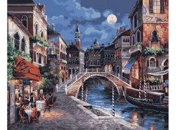 """Картина для раскрашивания по номерам """"Ночная Венеция"""" (40*50)"""