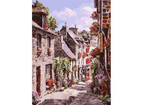 "Картина для раскрашивания по номерам ""Франция. Динан"" (30*40)"