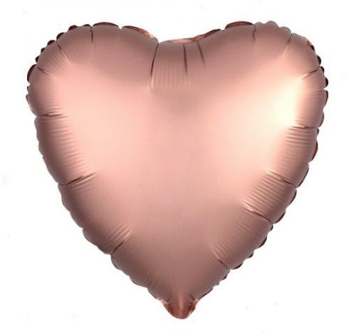 """Фольгированный шар """"Сердце. Розовое золото"""" 18″ (46 см)"""
