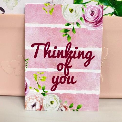 "Вкладыш ""Thinking of you"" 5*7"