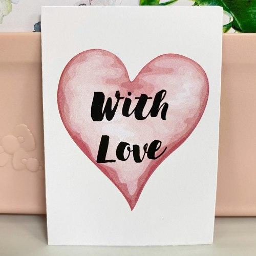 "Вкладыш ""With love. Сердце"" 5*7"