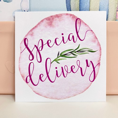 """Вкладыш """"Special delivery"""" 7*7"""