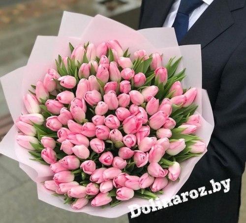 """Букет тюльпанов """"Розовый Фламинго"""""""