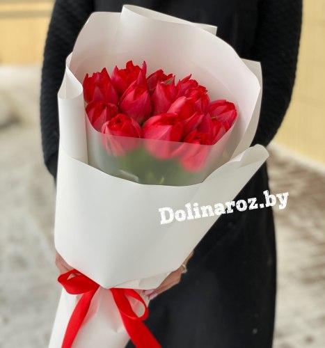 Букет тюльпанов «Красное солнце»