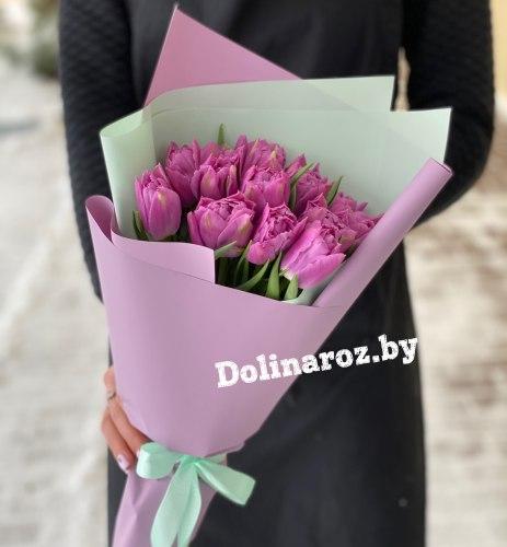 Букет тюльпанов «Фиолетовое настроение»