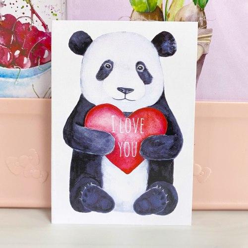 "Открытка ""I love you. Панда"" 7*10"