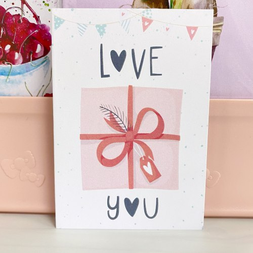 """Открытка """"Love you. Подарок"""" 7*10"""