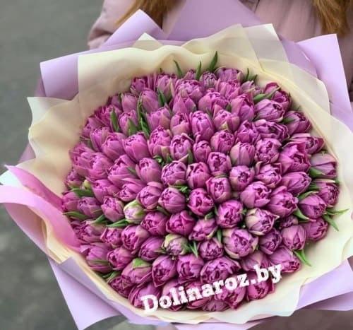 """Букет тюльпанов """"Фиолетовый рай"""""""